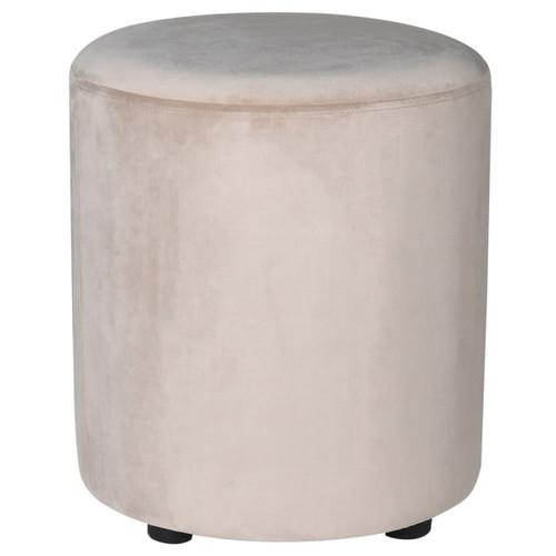 a gorgeous soft velvet feel taupe foot stool.