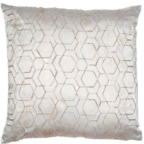 Large Geo Pale Silver Cushion