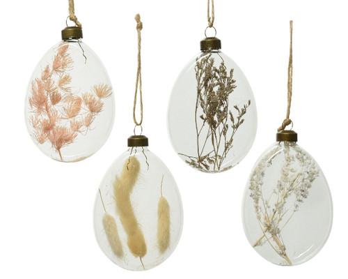 Glass Bauble Filled With Dried Foliage