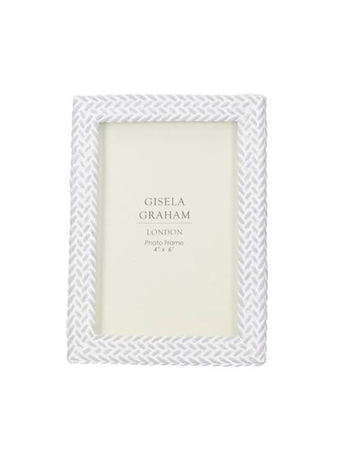 White Woven Effect Picture Frame