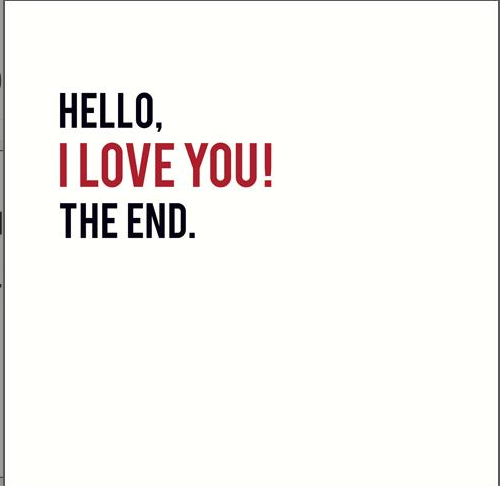 Hello! I Love You The End Card