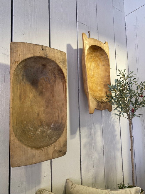We have a great range of orginal Fenok Dough bowls imported from the ukraine. Each one is hand carved and totally unique.  Each bowl is entirely different , below is an average size based on our current stock