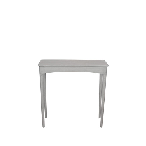 A stylish and contemporary design, this rectangular, dark grey wash pine wood console or hallway table is beautifully made with stylish, tapered legs and a sleek tabletop. A smart addition to any interior.  Dimensions:  W72 x D30 x H72cm