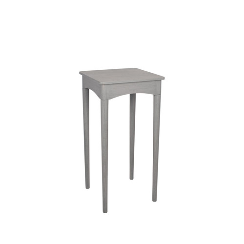 A stylish and contemporary design, this square, dark grey wash pine wood occasional table is beautifully made with stylish, tapered legs and a sleek tabletop. A smart addition to any interior.  Dimensions:  W36 x D36 x H72cm