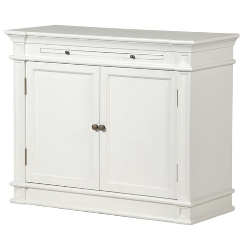 Ivory 2 Door Cupboard with Slide out drawer