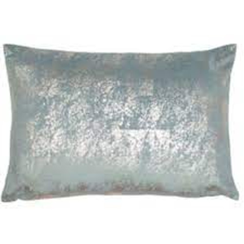 Pale Blue and Silver Cushion,
