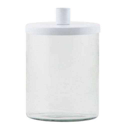 White Candle Holder With Lid