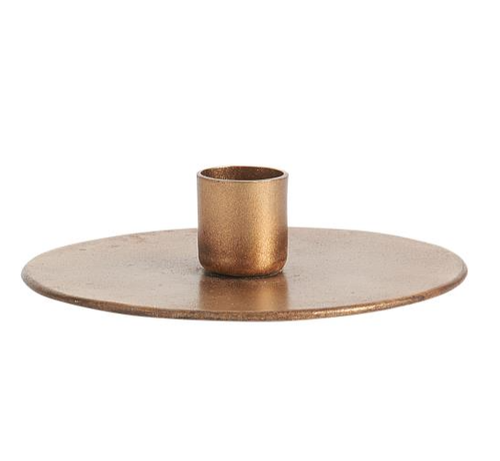 Brass Disc Candle Holder