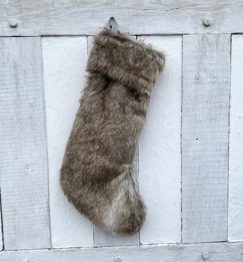 generously sized luxury faux fur stocking