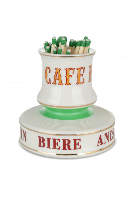 Café Paris Porcelain Match Strike