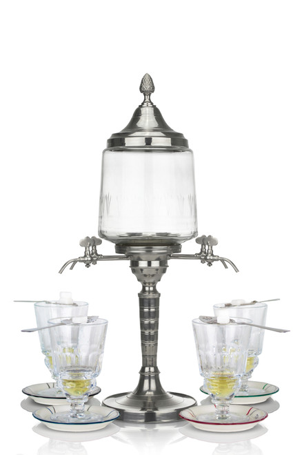 Traditional Absinthe Fountain with 4 Spouts, Complete Set