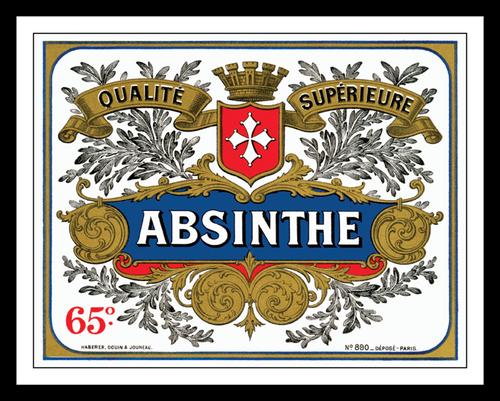 Absinthe Distillery Label Print