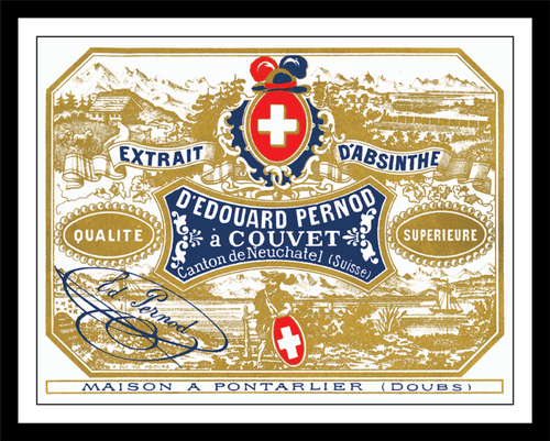 Edouard Pernod Absinthe Distillery Label Print