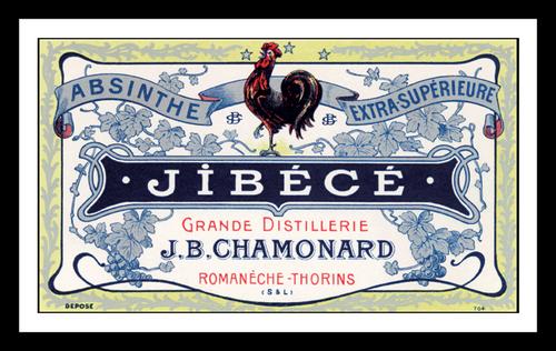 Jibece Absinthe Distillery Label Print