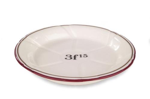 Porcelain Absinthe Coaster/Saucer, 3f15, Red/Gold