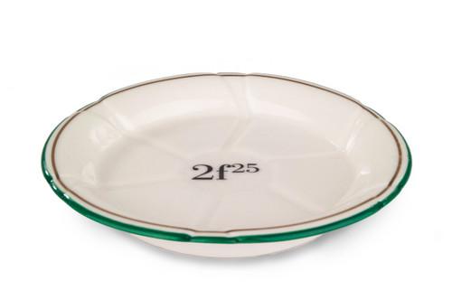 Porcelain Absinthe Coaster/Saucer, 2f25, Green/Gold