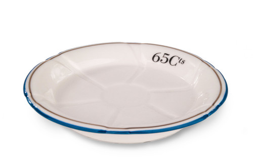 Porcelain Absinthe Coaster/Saucer, 65Cts, Blue/Gold