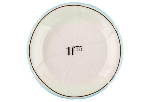 Porcelain Absinthe Coaster/Saucer, 1f75, Lt Blue/Gold