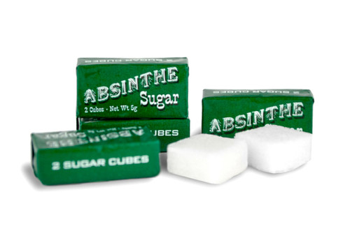 10 Wrapped Absinthe Sugar Cubes (5 Packets)