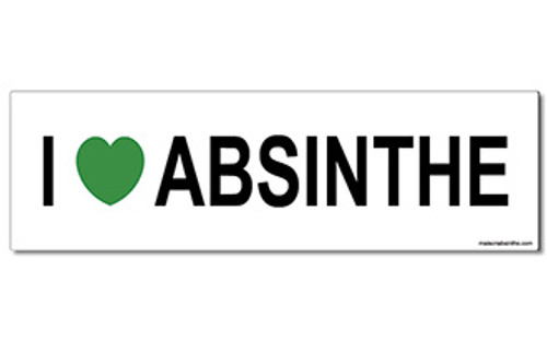 I (heart) Absinthe Bumper Sticker