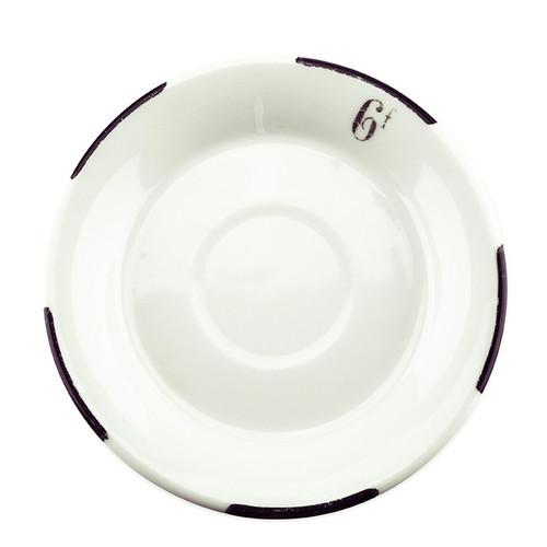 Antique Absinthe Saucer/Coaster, Black Dash Rim 6f