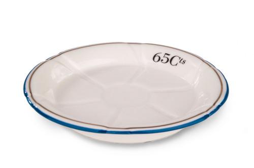 B-Stock - Porcelain Absinthe Coaster/Saucer, 65Cts, Blue/Gold