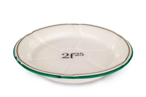B-Stock - Porcelain Absinthe Coaster/Saucer, 2f25, Green/Gold