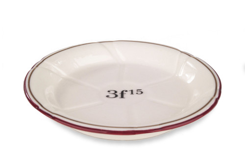 B-Stock - Porcelain Absinthe Coaster/Saucer, 3f15, Red/Gold