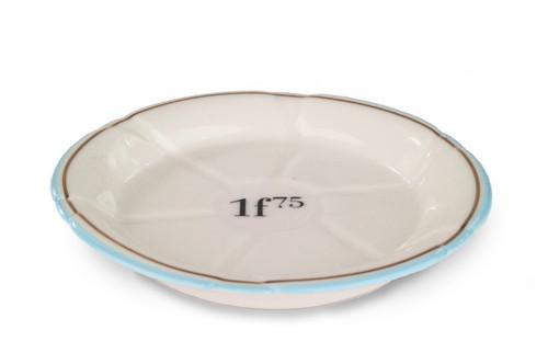 B-Stock - Porcelain Absinthe Coaster/Saucer, 1f75, Lt Blue/Gold