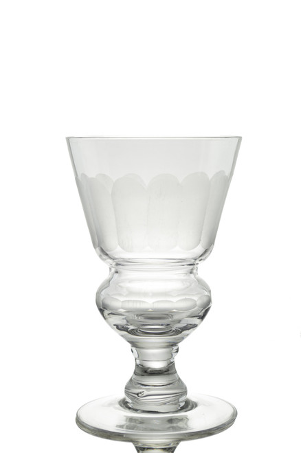 Pontarlier Absinthe Glass, Frosted Facet Cuts B-Stock, Set of 4