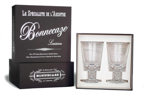Pontarlier Traditionnel Uncut Absinthe Glasses with Gift Box