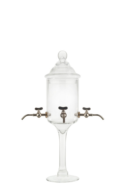 Glass Absinthe Fountain with Metal Spouts, 4 Spout