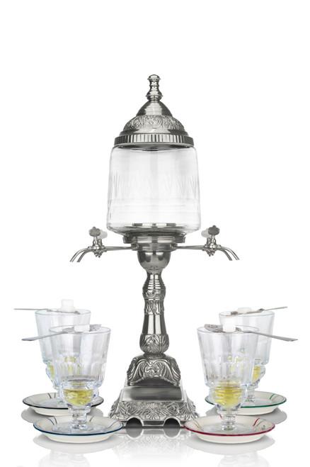 La Belle Orléans Absinthe Fountain with 4 Spouts, Complete Set