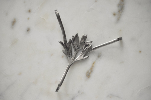 Petite Wormwood Leaf Absinthe Grille by Kirk Burkett, Sterling Silver