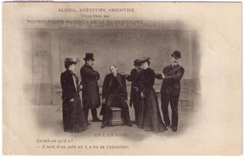 Alcool, Aperitifs, Absinthe Postcard