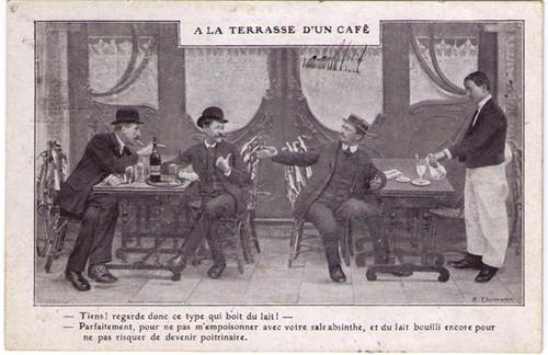 A la Terrasse d'un Cafe Postcard