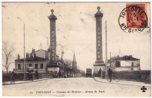 Toulouse - Absinthe Oxygenee Cusenier Postcard