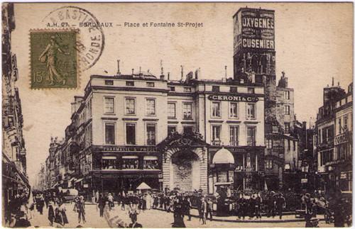 Bordeaux - Absinthe Oxygenee Cusenier Postcard