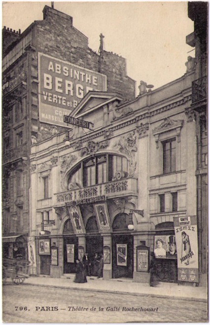 Paris - Absinthe Berger Postcard