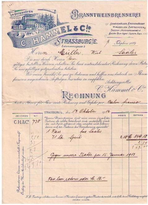 C. Hammel & Cie Invoice