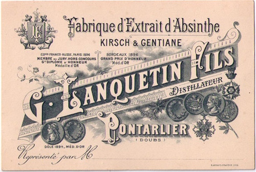 Distillerie G Lanquetin Fils Business Card 42206