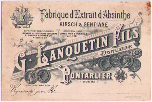 Distillerie G Lanquetin Fils Business Card