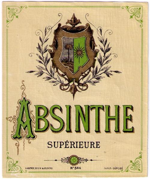 Antique Absinthe Superieure Bottle Label