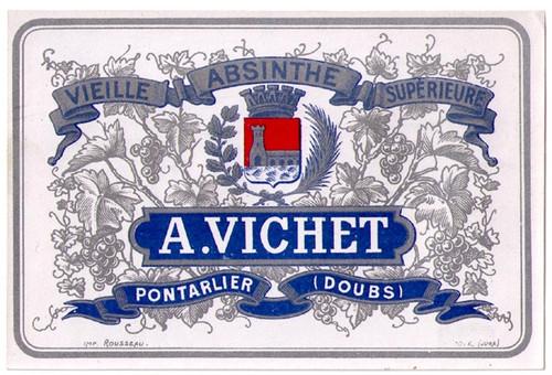 Antique Vichet Absinthe Bottle Label