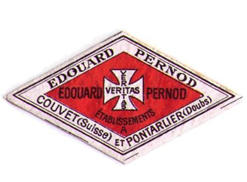 Antique Edouard Pernod Absinthe Bottle Neck Label