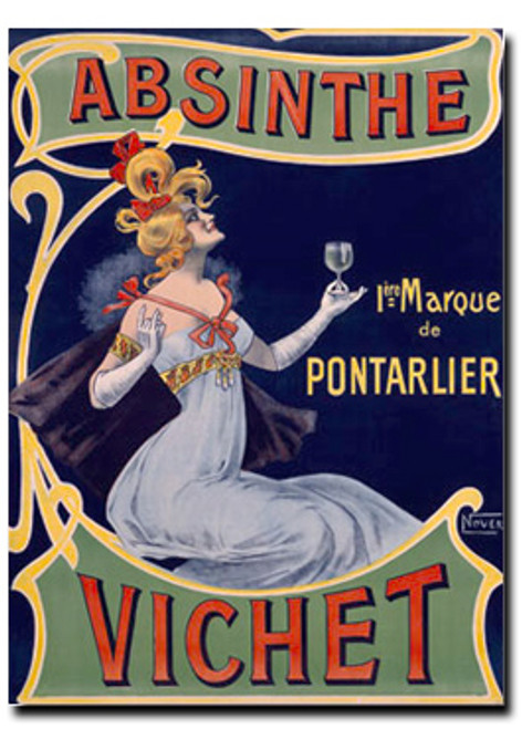 Absinthe Vichet Note Card