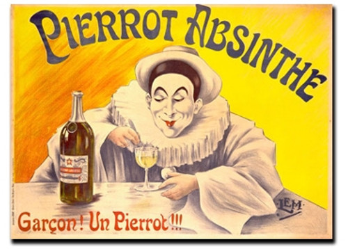 Pierrot Absinthe Note Card