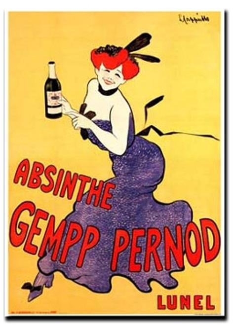 Absinthe Gempp Pernod Note Card