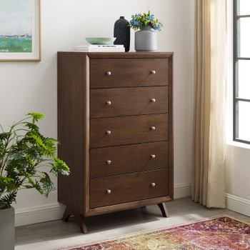 Providence Five-Drawer Chest or Stand MOD-6058-WAL Walnut