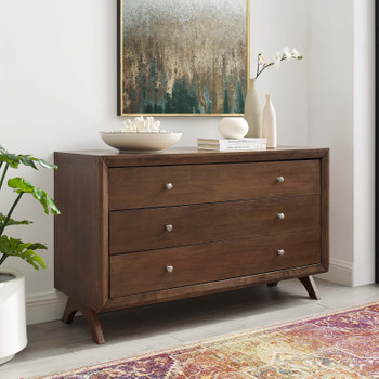 Providence Three-Drawer Dresser or Stand MOD-6059-WAL Walnut